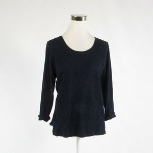 Navyblue cotton CHICO'S stretch knit blouse 0 XS 4